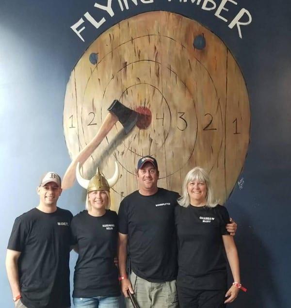 storefront flying timber axe throwing in Omaha