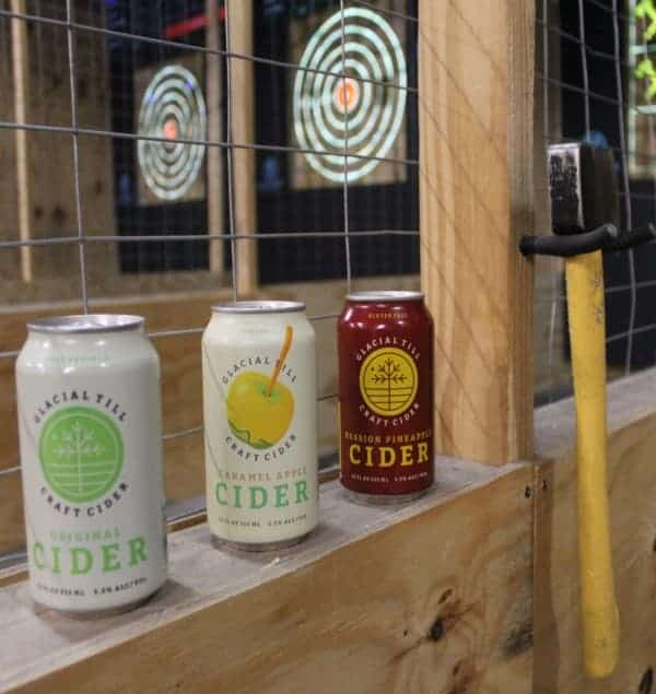 craft beer at Omaha axe throwing lanes