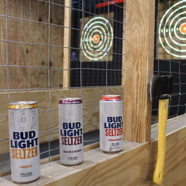 beer at flying timber axe throwing